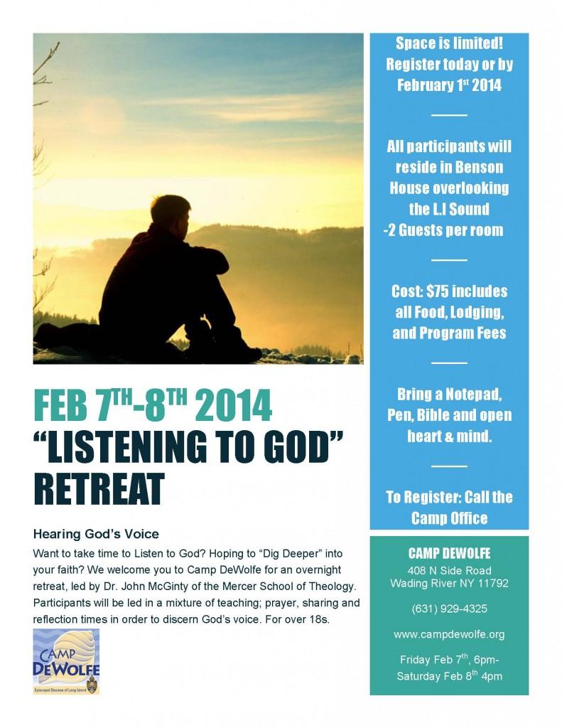 Listening to God Retreat