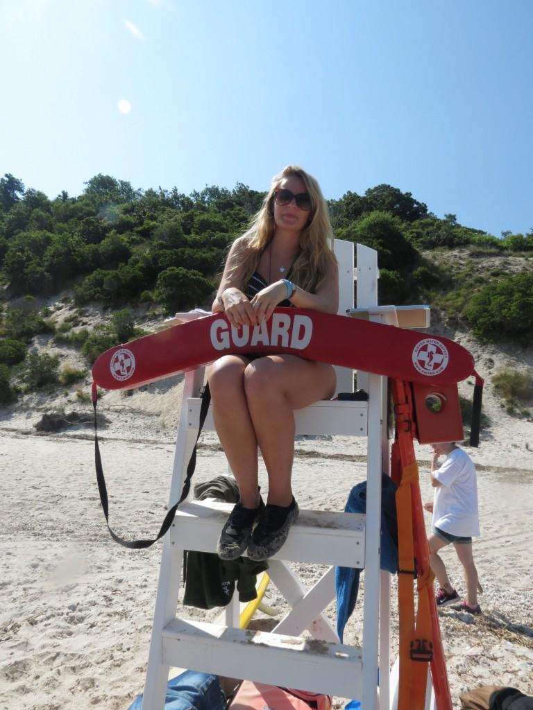 Beki on Lifeguard Duty
