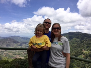 Overlooking the mountains in Jinotega